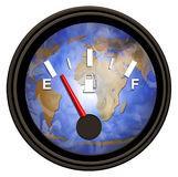 World Gasoline Meter. We are running on empty and encreasing our dependency on oil Stock Photos
