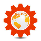 World in gear Royalty Free Stock Photos