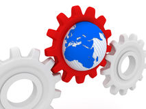 World and gears Stock Photography
