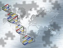 World Genetic. Some elements provided courtesy of NASA Royalty Free Stock Photography