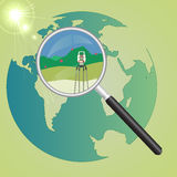 World geodetic system Stock Photos