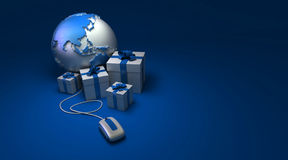 World gifts online America blue Royalty Free Stock Photos