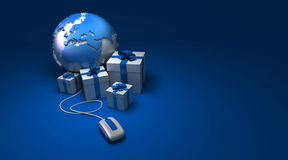 World gifts online Europe blue Royalty Free Stock Photography