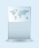 World glass award. With spce for your own text and metal base Royalty Free Stock Photos