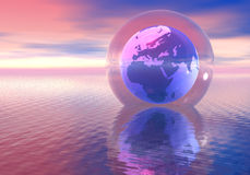The world in a glass ball Royalty Free Stock Photography