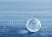 World glass sphere Royalty Free Stock Photography