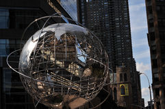 The World Glob in Columbus Circle Royalty Free Stock Photo