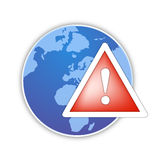 World global alert icon  Stock Photos