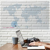 World Global Business Cartography Communication Concept Royalty Free Stock Images