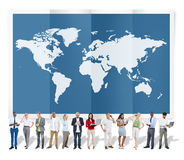 World Global Business Cartography Globalization International Co. Ncept Stock Image