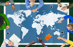 World Global Business Cartography Globalization International Co Royalty Free Stock Photos