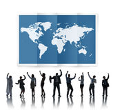World Global Business Cartography Globalization International Co Stock Image