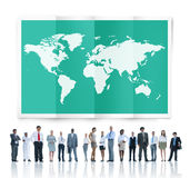 World Global Business Cartography Globalization International Royalty Free Stock Image