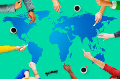 World Global Cartography Globalization Earth Concept Royalty Free Stock Image
