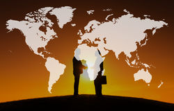 World Global Cartography Globalization Earth International Conce. Pt Stock Photography