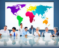 World Global Cartography Globalization Earth International Conce. Pt Royalty Free Stock Images