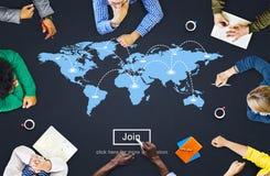 World Global Cartography Globalization Earth International Conce Stock Photos