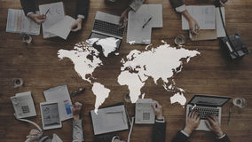 World Global Cartography Globalization Earth International Conce Royalty Free Stock Photography