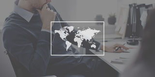 World Global Cartography Globalization Earth International Conce Stock Photography