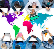 World Global Cartography Globalization International Concept Stock Photos