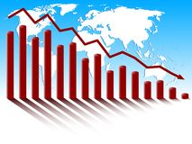 World global economic crisis. Royalty Free Stock Photography
