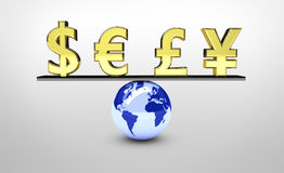 World Global Economy Balance Royalty Free Stock Image