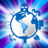 World Global Indicates Eco Friendly And Conservation Royalty Free Stock Images