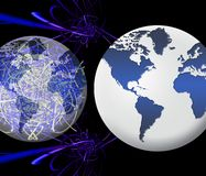 World global network (01). Illustration of the concept of global network Stock Photo
