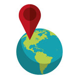 World global pointer map direction Stock Photography