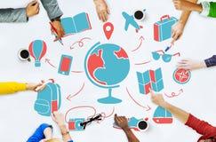World Global Travel Plan Tourism Concept Stock Photo