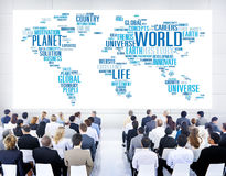 World Globalization International Life Planet Concept stock image