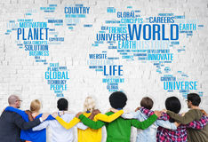 World Globalization International Life Planet Concept Royalty Free Stock Images