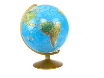 World globe. Isolated on whithe background Stock Images