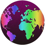 World globe. In white background Royalty Free Stock Photos