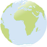 World globe. Globe continental Europe and Africa Royalty Free Stock Photo