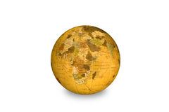 World globe. An isolated world globe shows Africa as its main focal point stock photography