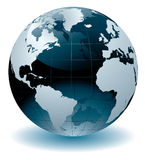 World Globe. Editable  illustration Royalty Free Stock Photo