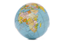 World globe. Isolated studio cutout royalty free stock image