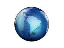 World Globe. Modern in blue color Royalty Free Stock Image