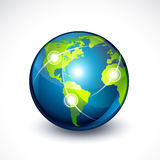 World globe. Vector illustration world globe. Concept communication Royalty Free Stock Photos