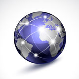 World globe. Vector illustration world globe. Concept communication Stock Image
