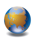 World globe. Icon and white background. Vector illustration Royalty Free Stock Photography