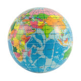 World globe. Globe of the World Europe, Africa and Asia on white stock photography