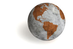 World Globe. Isolated over a white background. This is a 3D rendered picture