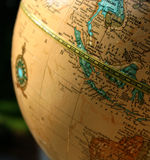 World Globe. With compass rose stock photography