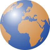 World globe. Globe world vector illustration - eps editable format Royalty Free Stock Photography