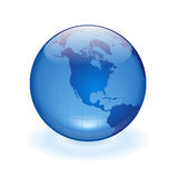 World Globe. As blue glass ball Stock Photography