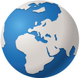 World Globe. Abstract Blue Worlds globe isolated Europe Royalty Free Stock Photography