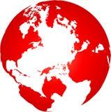 World globe. Transparency world globe vector illustration Royalty Free Stock Photo