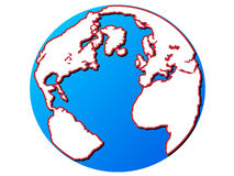 World globe. Isolated on white background vector illustration Royalty Free Stock Image